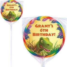 Dinosaur Party Personalized Lollipops (pack of 12)