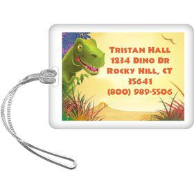 Dinosaur Party Personalized Luggage Tag (each)