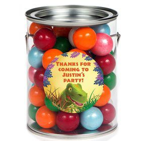 Dinosaur Party Personalized Paint Can Favor Container (6 Pack)