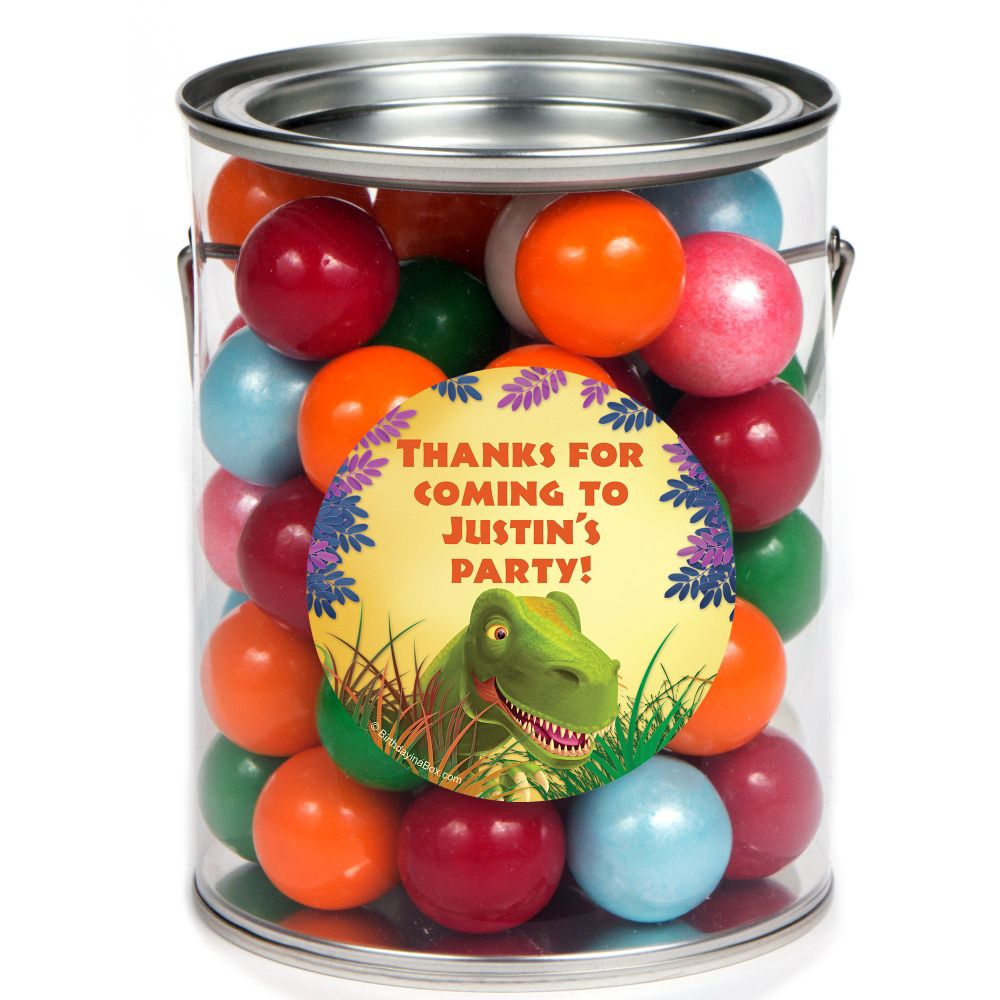 Dinosaur Birthday Party Supplies Personalized Paint Can Favor Container (6 Pack) BB1005PC