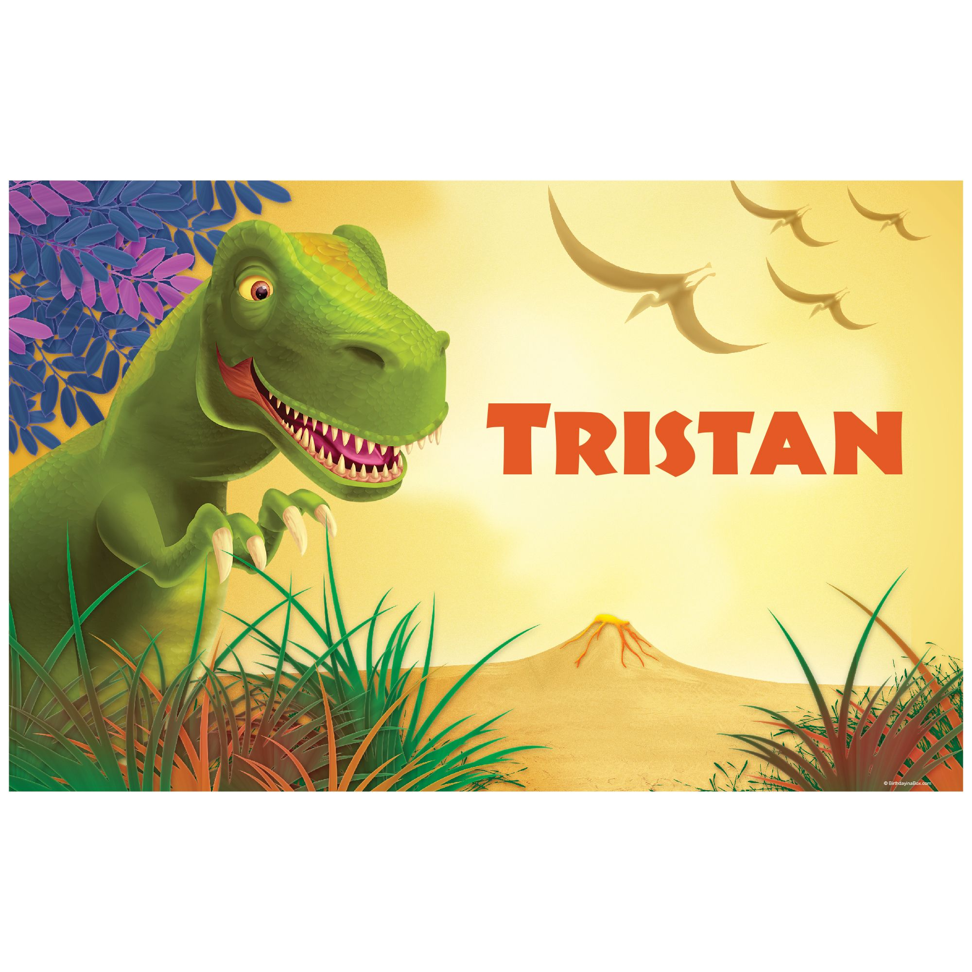 Dinosaur Party Personalized Placemat (Each) BB1005PM
