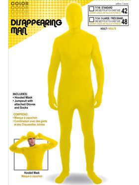 Disappearing Man Men's Suit Yellow