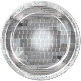 "Disco Ball 9"" Luncheon Plates (8 Pack)"