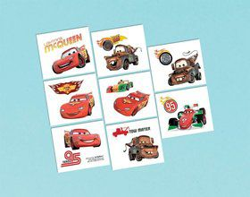 "Disney Cars 2"" Tattoo Favors (16 Pack)"
