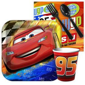 Disney Cars Birthday Party Standard Tableware Kit Serves 8