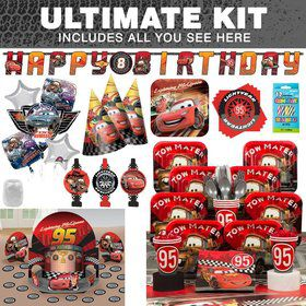 Disney Cars Birthday Party Ultimate Tableware Kit Serves 8