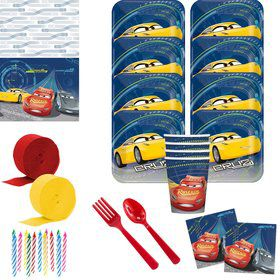 Disney Cars Deluxe Tableware Kit (Serves 8)
