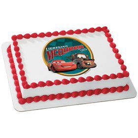 Disney Cars Quarter Sheet Edible Cake Topper (Each)