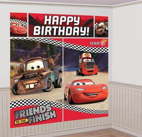 Disney Cars Scene Setter Wall Decorating Kit (Each)