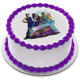 "Disney Descendants 2 7.5"" Round Edible Cake Topper (Each)"