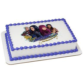 Disney Descendants 2 Wicked Cool Quarter Sheet Edible Cake Topper (Each)