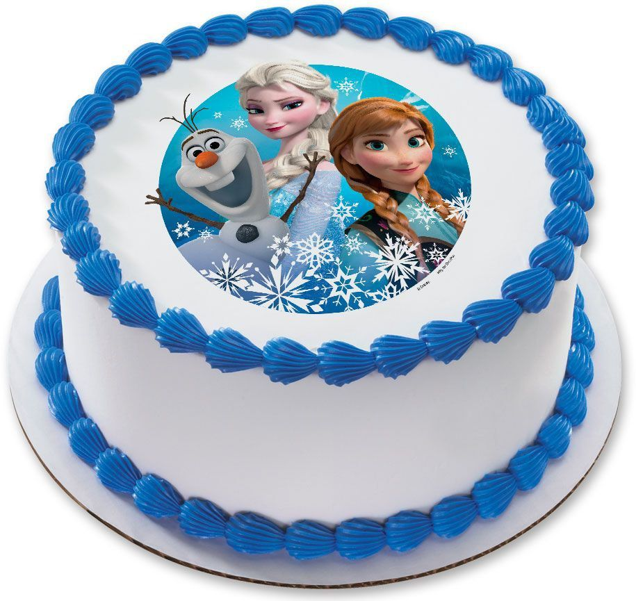 Disney Frozen 75 Round Edible Cake Topper Each
