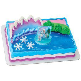 Disney Frozen Anna and Elsa Cake Decoration Set
