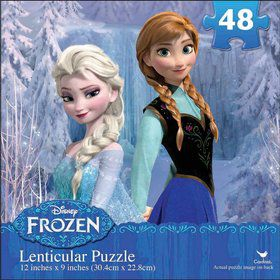 Disney Frozen Lenticular 3D Puzzle (48 Pieces)