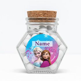 "Disney Frozen Personalized 3"" Glass Hexagon Jars (Set of 12)"