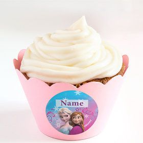Disney Frozen Personalized Cupcake Wrappers (Set of 24)