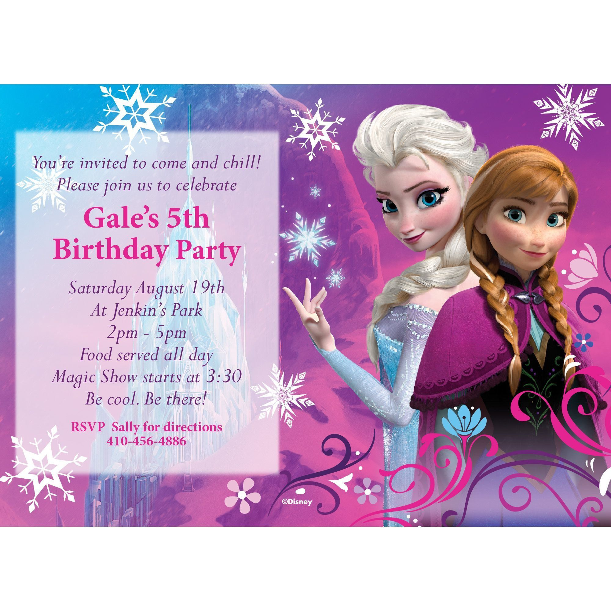 disney frozen personalized invitation - custom invitations and, Party invitations