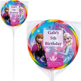Disney Frozen Personalized Lollipops (12 Pack)