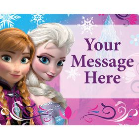 Disney Frozen Personalized Rectangular Stickers (Sheet of 15)