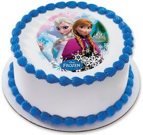 "Disney Frozen Sisters 7.5"" Round Edible Cake Topper (Each)"