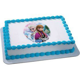 Disney Frozen Sisters Quarter Sheet Edible Cake Topper (Each)