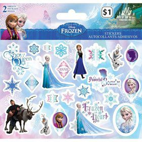 Disney Frozen Stickers (2 Sheets)