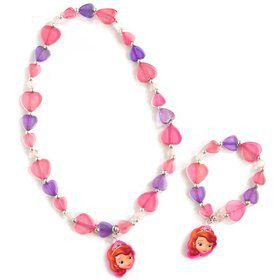 Disney Junior Sofia the First Necklace and Bracelet Set