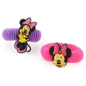 Disney Minnie Mouse Hair Ponies Assorted (8)