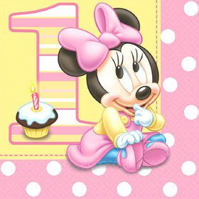 Disney Minnie's 1st Birthday Lunch Napkins