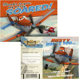 Disney Planes Invitation & Thank You (8 Pack)