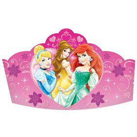 "Disney Princess 5"" Paper Tiaras (8 Pack)"