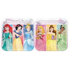 "Disney Princess 7"" Cake Plates (8 Pack)"