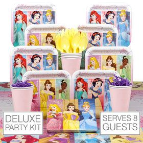 Disney Princess Birthday Party Deluxe Tableware Kit Serves 8