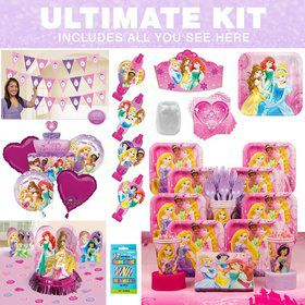 Disney Princess Birthday Party Ultimate Tableware Kit serves 8