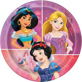 "Disney Princess Dream Big 7"" Dessert Plates (8)"