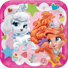 "Disney Princess Palace Pets 9"" Square Luncheon Plates (8 Count)"