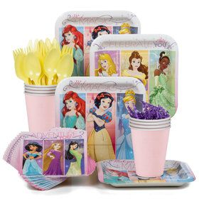 Disney Princess Party Standard Tableware Kit Serves 8