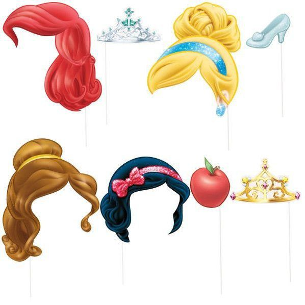 Disney Princess Photo Booth Props Disney Princess