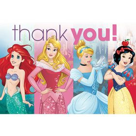 Disney Princess Postcard Thank You Cards (8 Pack)