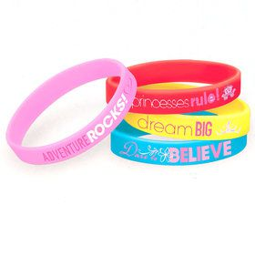 Disney Princess Rubber Bracelet Favors (4 Pack)