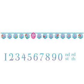 Disney The Little Mermaid Sparkle Birthday Banner