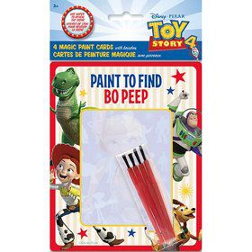 Disney's Toy Story 4 Magic Watercolor Paint Favor Card w/ Brush