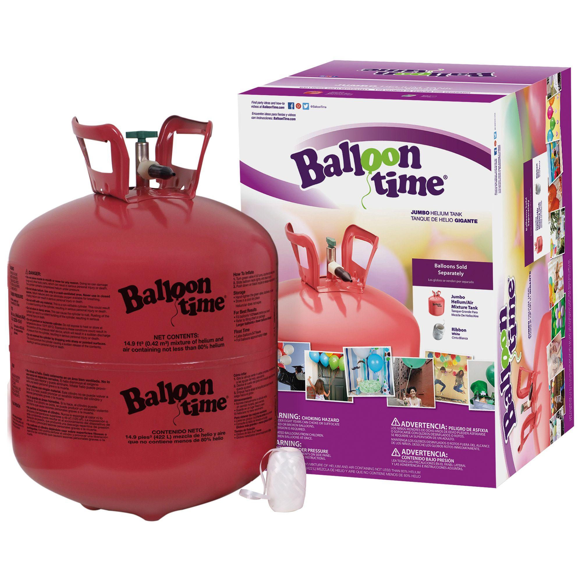 DISPOSABLE HELIUM TANK 14.9 CU FT. - Party Supplies