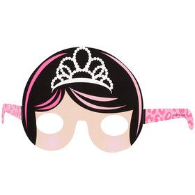 Diva Princess Paper Masks (8) One size