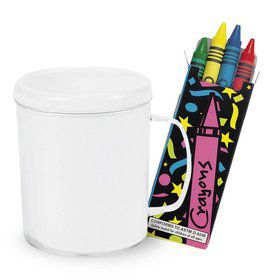 DIY Decorate a Mug and Crayons Kit (Each)