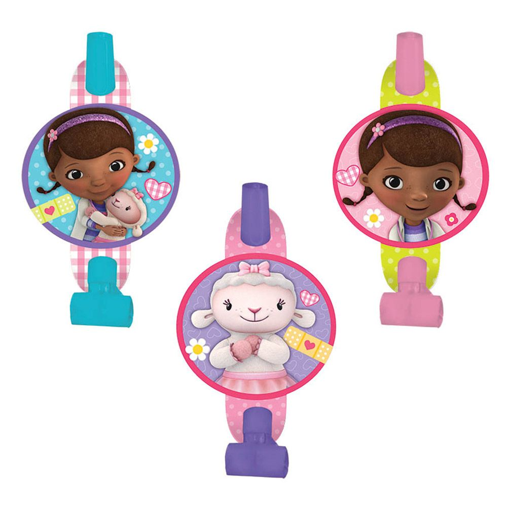 "Doc Mcstuffins 5"" Blowouts (8 Pack) - Party Supplies BB331352"