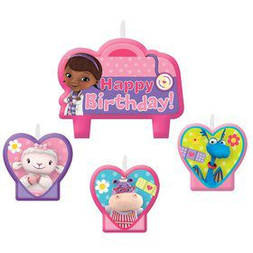 Doc McStuffins Birthday Candle Set (Each)
