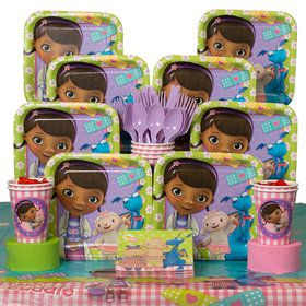 Doc McStuffins Birthday Party Deluxe Tableware Kit (Serves 8)