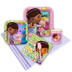 Doc McStuffins Birthday Party Deluxe Tableware Kit Serves 8