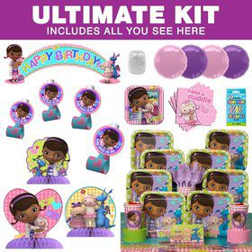 Doc McStuffins Birthday Party Ultimate Tableware Kit Serves 8